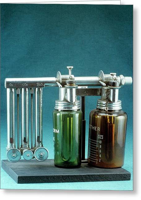 Boyle's Apparatus For General Anaesthesia Greeting Card by Science Photo Library