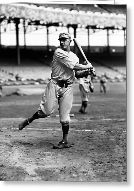 Baseball Bat Greeting Cards - Braggo Roth Greeting Card by Retro Images Archive