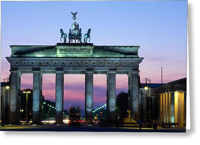 Tor Greeting Cards - Brandenburg Gate, Berlin, Germany Greeting Card by Panoramic Images