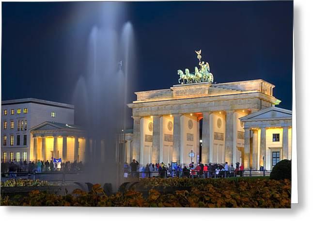 Berlin Pyrography Greeting Cards - Brandenburger Tor Greeting Card by Steffen Gierok