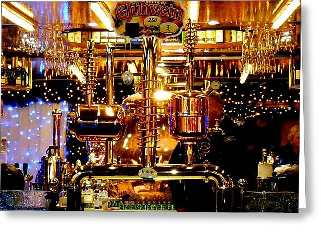 Stein Greeting Cards - Brass Beer Greeting Card by Sharon Costa