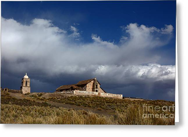 Colonial Building Greeting Cards - Braving the Elements Greeting Card by James Brunker