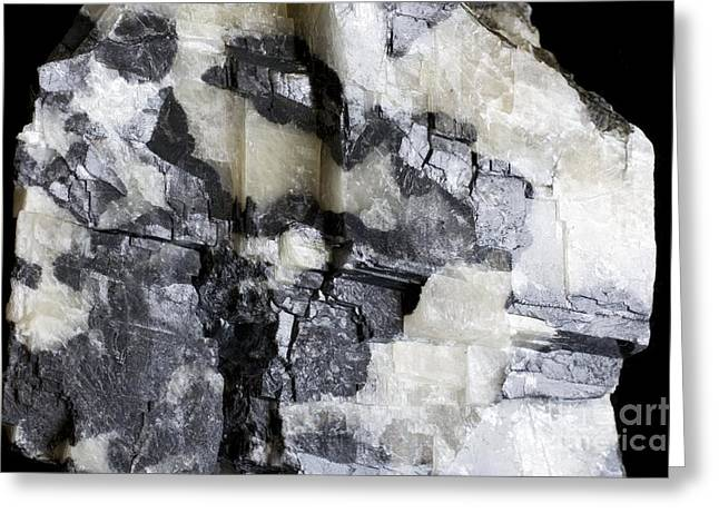 Calcium Phosphate Greeting Cards - Brazilianite Crystals In Calcite Greeting Card by Dirk Wiersma