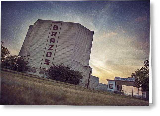 Old Drive In Greeting Cards - Brazos Drive in Theater Greeting Card by Pair of Spades