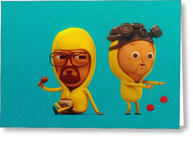 Breaking Bad Art Greeting Cards - Breaking Bad Art Prints Greeting Card by Victor Gladkiy