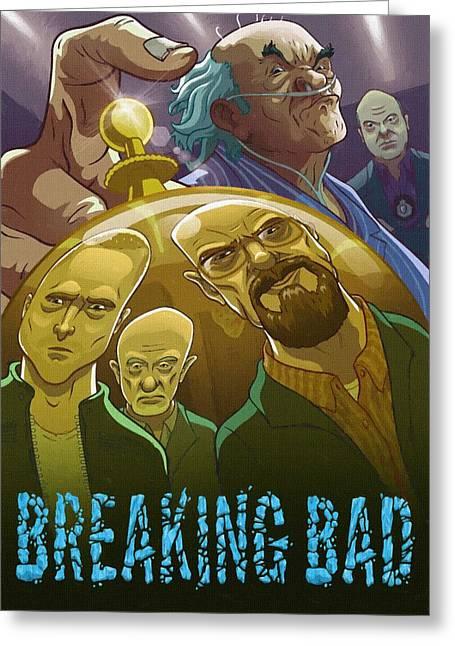 Breaking Bad Art Greeting Cards - Breaking Bad Paintings Greeting Card by Victor Gladkiy