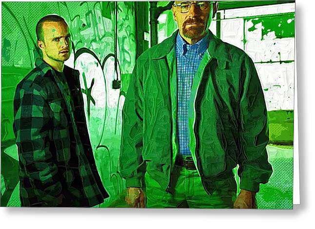 Bad News Greeting Cards - Breaking Bad Poster framed Greeting Card by Victor Gladkiy
