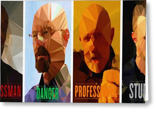 Bad News Greeting Cards - Breaking Bad Poster season 3 Greeting Card by Victor Gladkiy