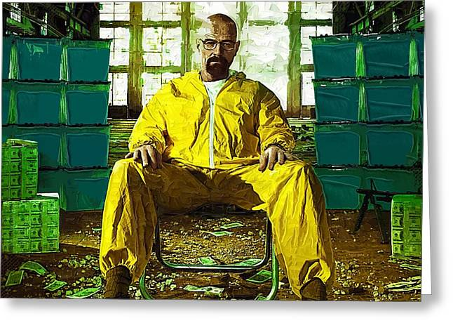 Bad News Greeting Cards - Breaking Bad Poster season 4 Greeting Card by Victor Gladkiy