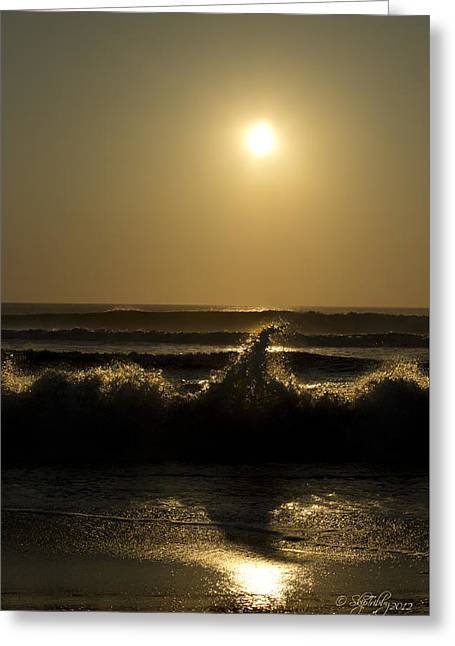 Skip Tribby Greeting Cards - Breaking Waves Greeting Card by Skip Tribby