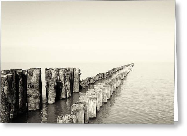North Sea Greeting Cards - Breakwaters Greeting Card by Wim Lanclus