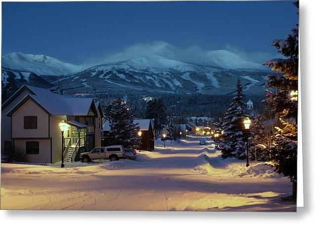 Breckenridge Colorado Morning Greeting Card by Michael J Bauer