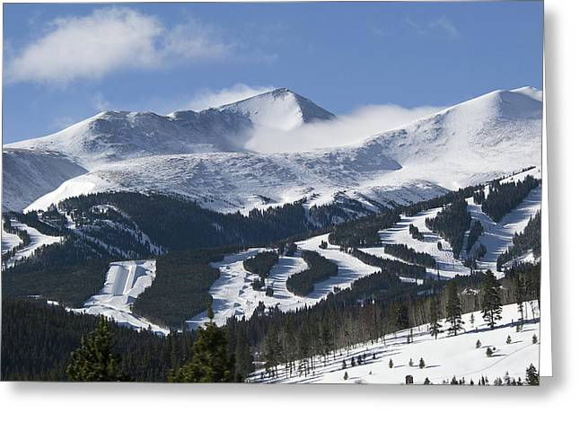 Summit Greeting Cards - Breckenridge Resort Colorado Greeting Card by Brendan Reals