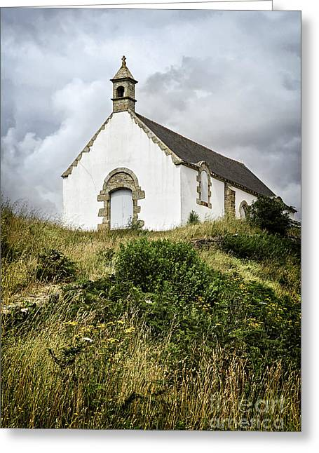 Old Wall Greeting Cards - Breton church Greeting Card by Elena Elisseeva
