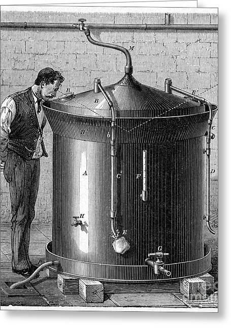 Fermentation Photographs Greeting Cards - Brewery Vat, 19th Century Greeting Card by CCI Archives