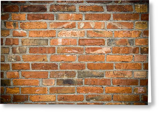 Regular Greeting Cards - Brick Wall Greeting Card by Frank Tschakert