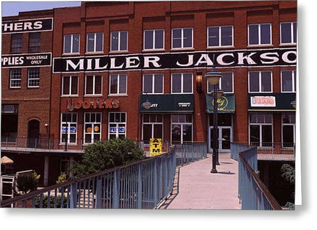 Script Greeting Cards - Bricktown Mercantile Building Greeting Card by Panoramic Images
