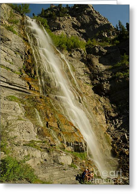 Boren Greeting Cards - Bridal Veil Falls Greeting Card by Nick  Boren