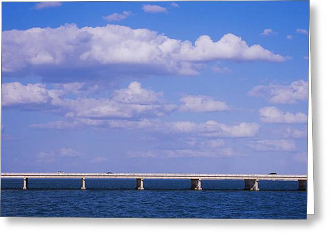 Bay Bridge Greeting Cards - Bridge Across A Bay, Sunshine Skyway Greeting Card by Panoramic Images