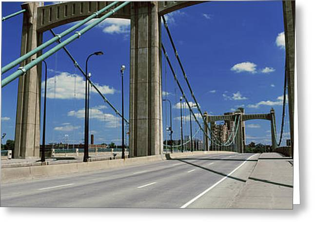 Bridge In A City, Hennepin Avenue Greeting Card by Panoramic Images