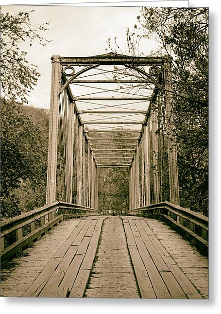1987 Photographs Greeting Cards - Bridge in Pineville Kentucky 1987 Greeting Card by Mountain Dreams