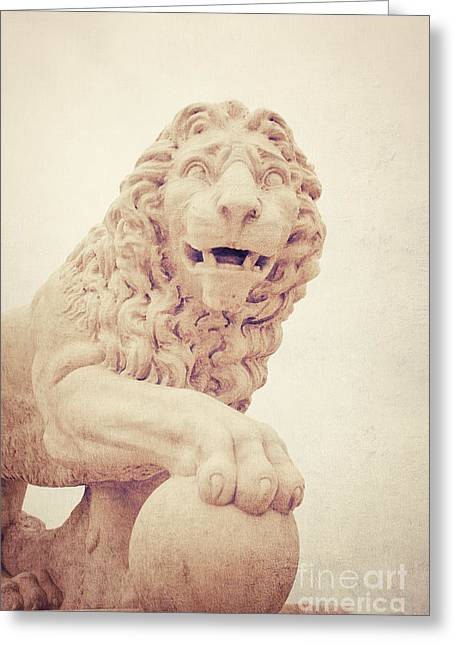 Historic Statue Greeting Cards - Bridge of Lions Greeting Card by Erin Johnson