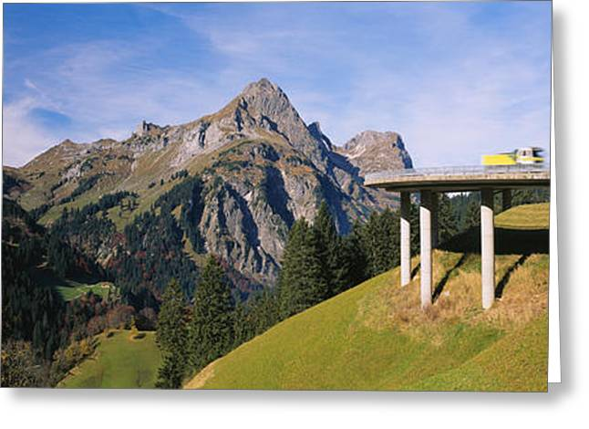 Travel Truck Greeting Cards - Bridge On Mountains, Mountain Pass Greeting Card by Panoramic Images