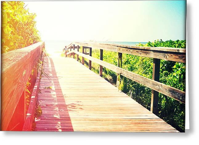 Florida Bridge Greeting Cards - Bridge to Paradise Greeting Card by Chris Andruskiewicz