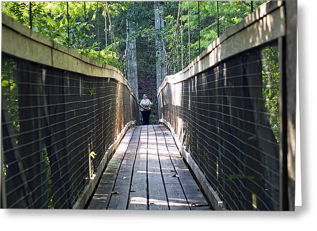 Florida Bridge Greeting Cards - Bridge to Paradise Greeting Card by Kenneth Albin