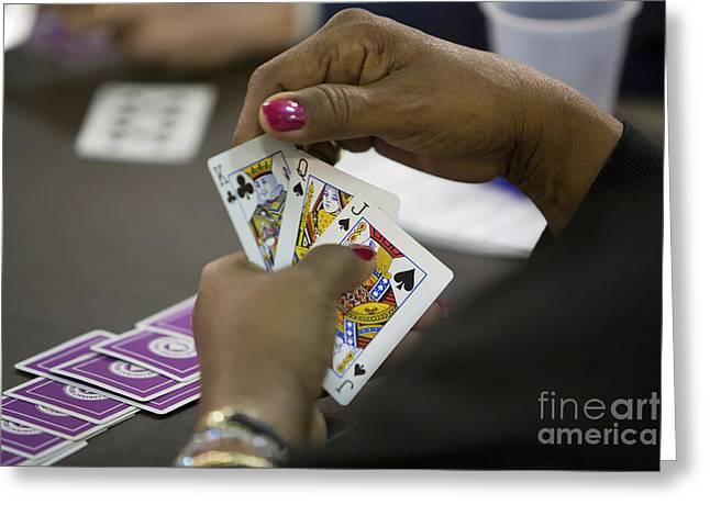 Bridge Tournament Greeting Card by Jim West