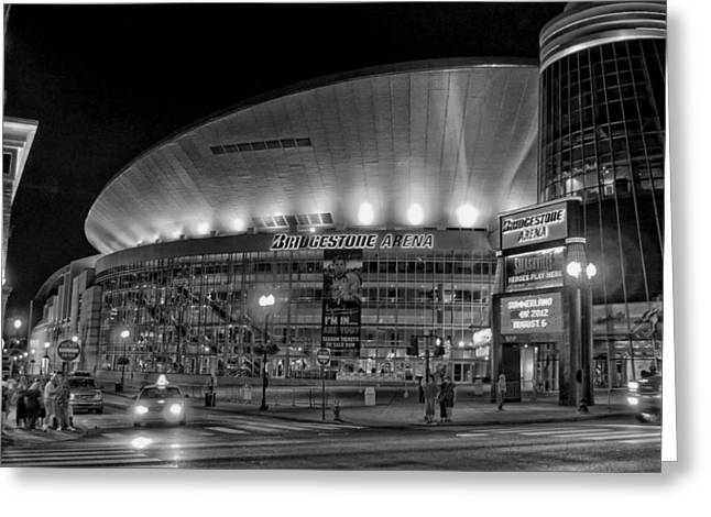 Nashville Greeting Cards - Bridgestone Arena - Nashville Greeting Card by Mountain Dreams