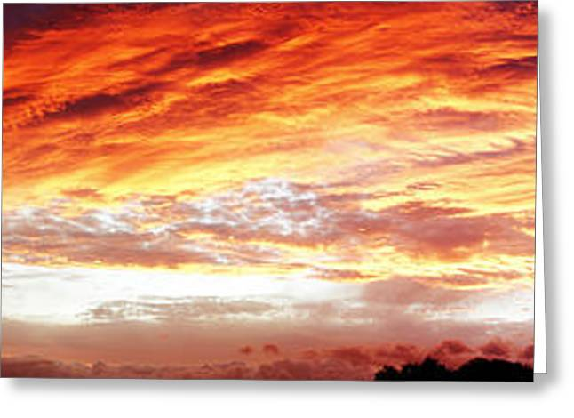 Religion Greeting Cards - Bright summer sky Greeting Card by Les Cunliffe