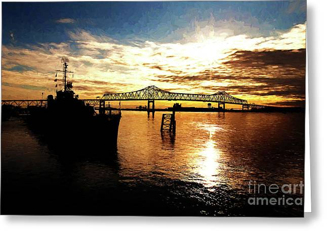 Baton Rouge Greeting Cards - Bright Time on the River Greeting Card by Scott Pellegrin