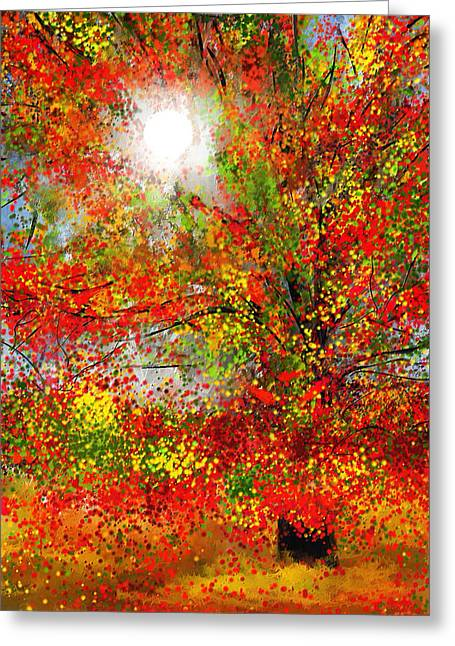 Farm Scenes Greeting Cards - Brighter Day Greeting Card by Lourry Legarde
