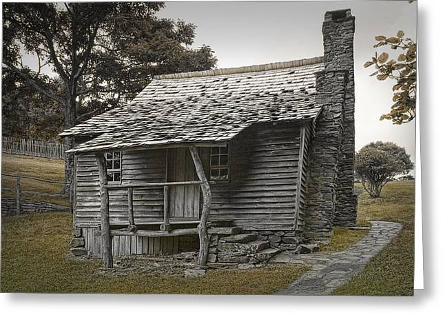Historical Buildings Greeting Cards - Brinegar Cabin in the Blue Ridge Parkway Greeting Card by Randall Nyhof
