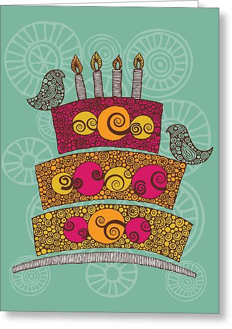 Birthday Cake Greeting Cards - Brithday Cake_hi Res Greeting Card by Valentina Ramos