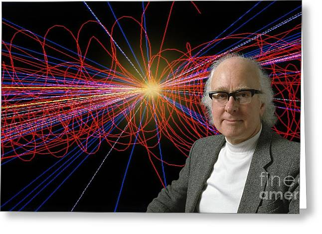 Cern Greeting Cards - British Physicist Prof. Peter Higgs Greeting Card by David Parker