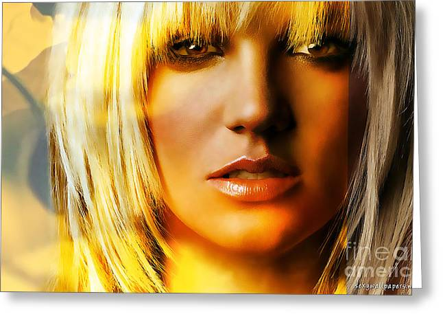 Britney Spears Greeting Cards - Britney Spears Greeting Card by Marvin Blaine