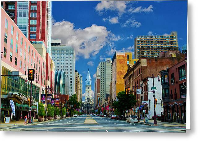 Broad Street Digital Art Greeting Cards - Broad Street - Avenue of the Arts Greeting Card by Bill Cannon