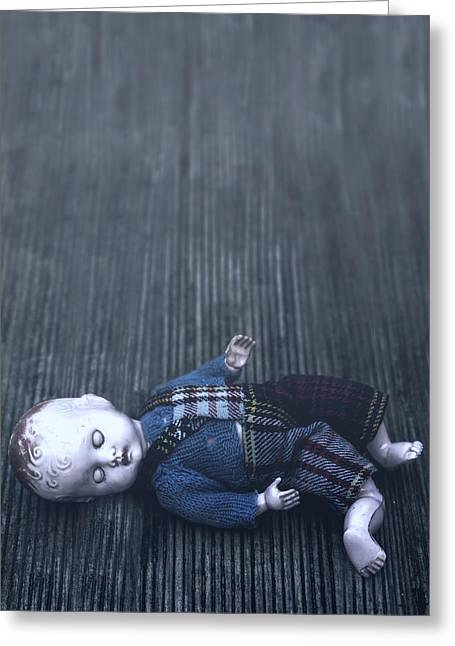 Eerie Greeting Cards - Broken Doll Greeting Card by Joana Kruse