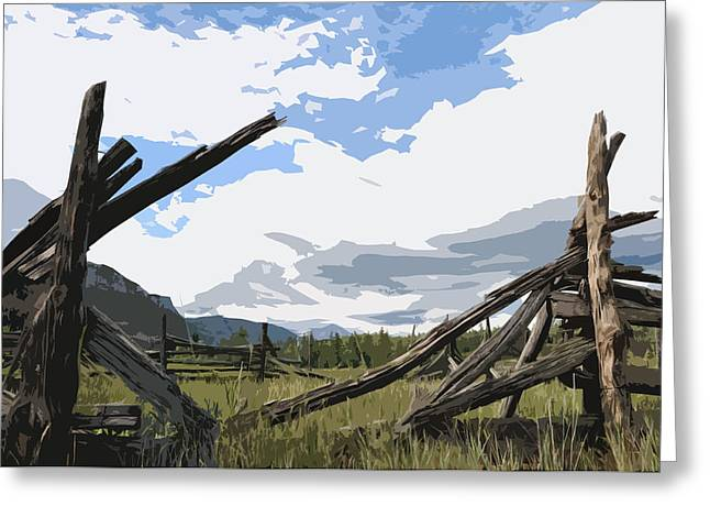 Broken Fence Greeting Card by Jack McAward