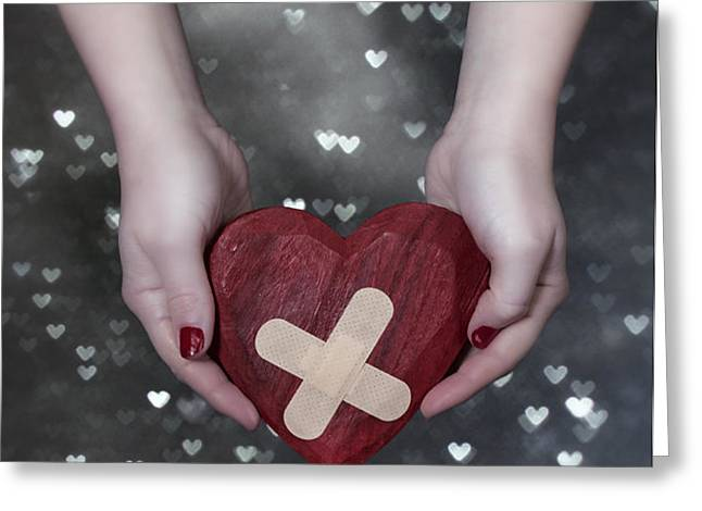broken heart Greeting Card by Joana Kruse