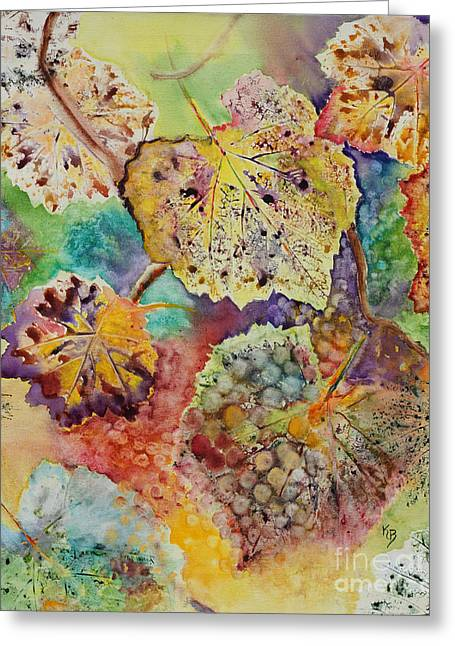 Grape Leaves Greeting Cards - Broken Leaf Greeting Card by Karen Fleschler
