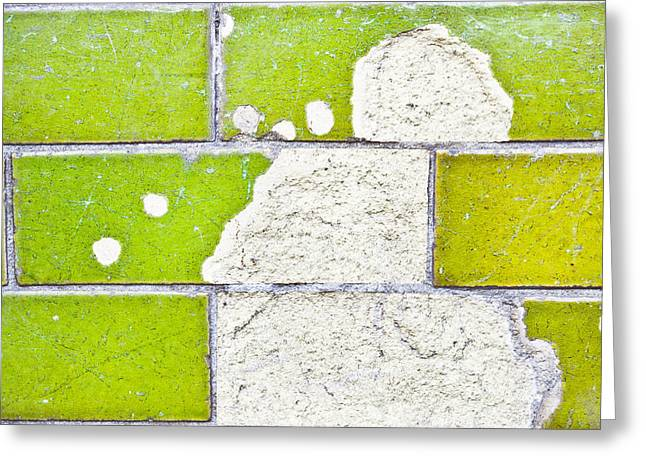 Torn Greeting Cards - Broken tiles Greeting Card by Tom Gowanlock