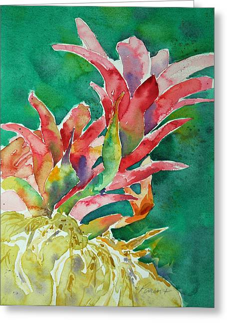 Bromeliad Paintings Greeting Cards - Bromeliad Greeting Card by Roger Parent