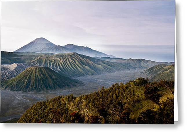 Black Top Greeting Cards - Bromo valley  Java  Indonesia Greeting Card by Dray Van Beeck