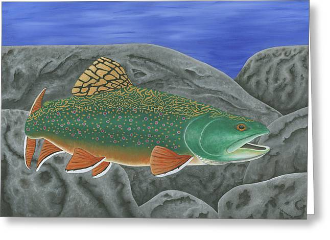 Brook Trout Greeting Cards - Brook Trout Greeting Card by Ralph Martens