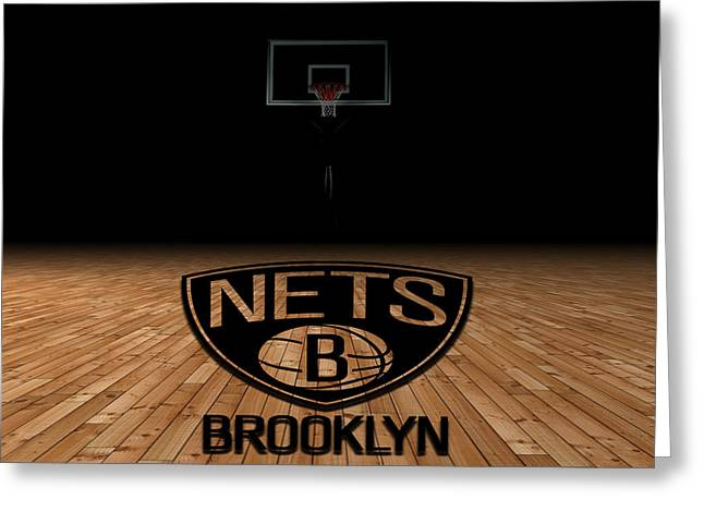 Dunks Greeting Cards - Brooklyn Nets Greeting Card by Joe Hamilton