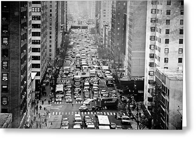 Congestion Greeting Cards - Brooklyn Traffic Jam Greeting Card by Mountain Dreams