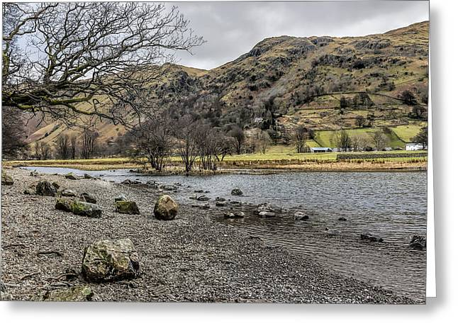 Reflections In River Greeting Cards - Brothers Water Lake District Greeting Card by Trevor Kersley